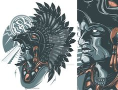 Aztec Warrior by on DeviantArt - Wallpaper Zone Aztec Warrior Tattoo, Mayan Tattoos, Symbol Tattoos, Polynesian Tattoos, Aztec Drawing, Aztec Tattoo Designs, Tattoo Patterns, Mexican Artwork, Graffiti
