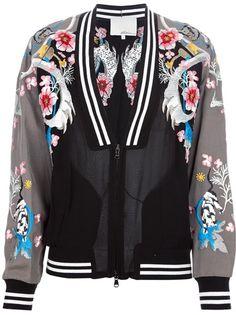 3.1 Phillip Lim - embroidered varsity jacket 1