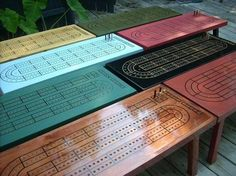 Cribbage board coffee table - What, what? would be awesome weather proofed for the deck! We could make one for Jason!
