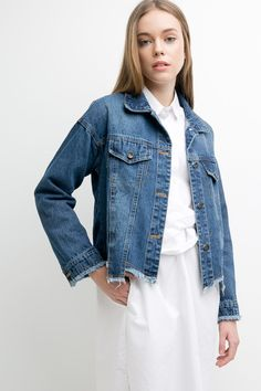 Print Denim Jacket