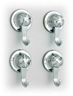 Everloc Everloc Hooks, Set of 4 Small Enamel Paint, Chrome Finish, Kitchen And Bath, Bathroom Accessories, Polished Chrome, Home Kitchens, Door Handles, Glass, Ebay