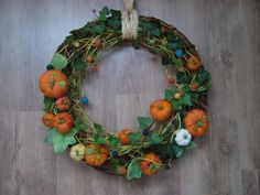 fall felted wreath