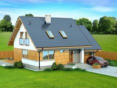 106 sm - very compact, nice layout Compact House, Design Case, Small House Plans, Malaga, Sliding Doors, Home Fashion, Bungalow, Shed, Layout