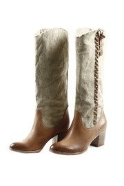 Saweet Cowgirl boots! although I'd probably ride in them and ruin them for fashionable wearing when not with a horse.