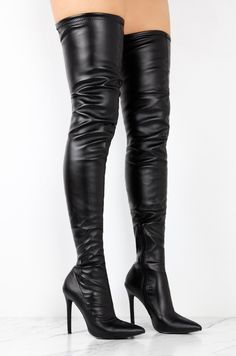 b43bb2be012f Totally Wicked Footwear · Products · Slay OTK High Heel Thigh Boots 4.5