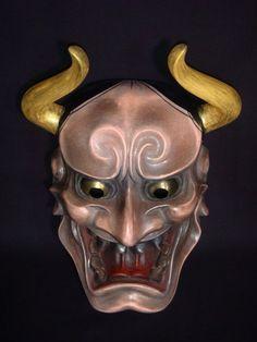 Noh | Noh Mask Magari Tsuno Hannya Japanese Demon Mask, Japanese Warrior, Samurai, Oni Mask, Japanese Folklore, Japanese Tattoo Art, Art Japonais, Masks Art, Oriental