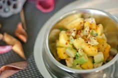 Peach Avocado Salsa is quick, easy, and refreshing. Delightful with fish, chi. Healthy Gluten Free Recipes, Vegetarian Recipes, Whole 30 Recipes, Whole Food Recipes, Paleo Chips, Canadian Food, How To Eat Paleo, Summer Recipes, Omelettes