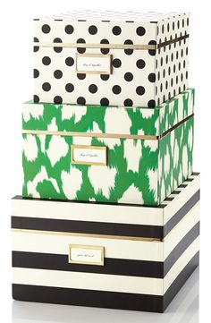 kate spade new york storage nesting boxes (set of 3)   Nordstrom