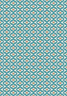 Indie Spice: Turquoise Interlock Art Print by Designer Ham   Society6