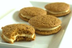 Pumpkin Whoopie Pie with Maple Cream Cheese Frosting via DeliciouslyOrganic.net - one of the best things I've ever eaten.