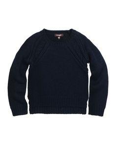 Raglan Pullover Sweater, Navy, Size 8-14, Size: 12 - Imoga