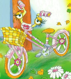 """'The bike is getting ready for Saturday night!'  From: """"The Little Lost Truck"""""""