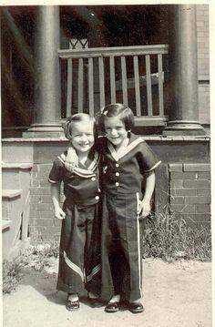 Girlfriends in sailor suits