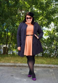 .cute outfit on a curvy gal plus size big women
