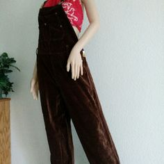 Jou Jou Overalls This is a Vintage pair of  Jou Jou Overalls Adjustable Buckle Straps Button Sides Sueded Material Chocolate Color Size L Vintage w/tags on  Size runs smaller **I have these in Black/ $27 Comment if you need a pair Jou Jou Pants Jumpsuits & Rompers