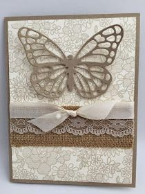 Stampin' Studio: Sahara Sand, Something Lacy, Butterfly Thinlits