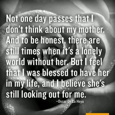 Missing my mom more lately. She didn't have the things in the world to give me but she gave me all her Love, just hope one day my kids will appreciate me as much as I did my mom.