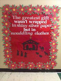 Mrs. B's Christmas bulletin board