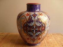 Antique Royal Crown Derby Dragonfly Gilt Imari Vase