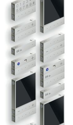 """""""- +"""" Modular Smartphone Concept Where Each Element Can Operate Independently"""