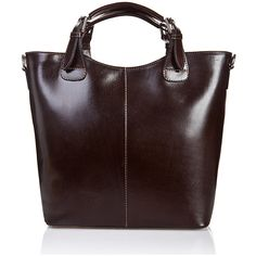 Massimo Castelli Dark Brown Square-Handle Leather Tote (6.245 RUB) ❤ liked on Polyvore featuring bags, handbags, tote bags, genuine leather handbags, red tote, genuine leather tote, leather tote and red tote bag