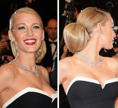 Blake Lively Pulls Hair Into Glam Bun For Cannes Film Festival