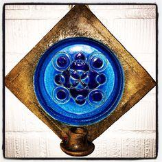 Bitossi wall candle holder. Aldo Londi. Mid century Italian pottery.