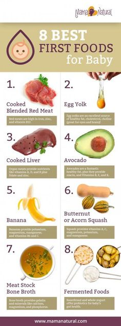 The Surprising Best First Foods for Baby by Mama Natural