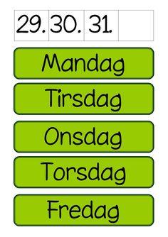 Lær ugedagene Montessori Classroom, Classroom Design, Preschool Activities, School Supplies, Kids Learning, Kindergarten, Homeschool, Language, Teaching
