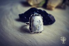 silver dendritic opal ring,gypsy ring , silver ring, dendritic ring, 925 sterling silver ring, dendritic stone ring, boho ring  size 8.5