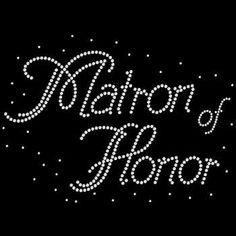 Matron of Honor Rhinestone Tshirt Wedding by BlingnPrintStreet