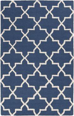 Pollack AWDN-2024 Blue/White Modern Premium Wool Rug