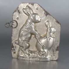 Chocolate Mold Mother Rabbit and Baby Bunny in  Easter Egg | eBay $ 416 03/2013