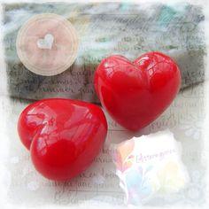 Lampwork Beads Glass Beads Cherry Red by GlitteringprizeGlass