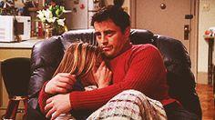 friends F.R.I.E.N.D.S Joey Tribbiani hugs rachel green Jennifer Aniston gifset Matt LeBlanc joey x rachel fyeahjoeyrachel 《pinterest: @ninabubblygum》