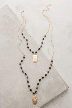 Heather Hawkins Ashen Light Layered Necklace #anthrofave