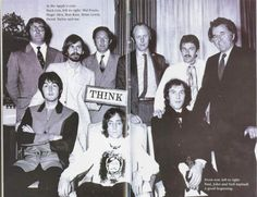 Magic Alex Mardas with Paul McCartney and John Lennon and others at Apple
