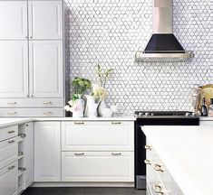 Color Inspiration: gray cabinets + brass hardware