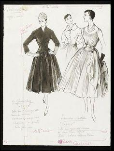Рисунки Марселя Фроменти 1953-54 годов