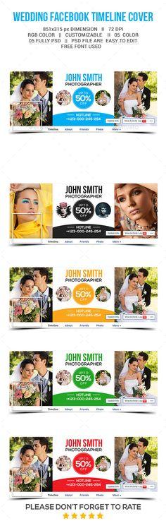 Wedding  Facebook Timeline Cover Template PSD #design Download: http://graphicriver.net/item/wedding-facebook-timeline-cover/13214170?ref=ksioks