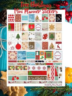 Free Christmas and Winter Mini Planner Stickers Printable