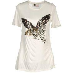 LANVIN Short sleeve t-shirt ($468) via Polyvore