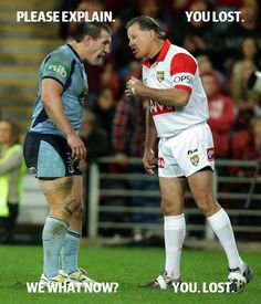 No thanks to one of the worst refs of all time! Nrl Memes, Rugby Memes, Sports Memes, Rugby League, Rugby Players, State Of Origin Memes, League Memes, Australian Football, Soccer Boots