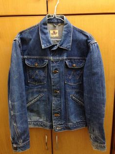 29626b50 1960s Selvage Blue Bell Wrangler Jacket, Made in USA Selvedge, Size 38  メンズデニム