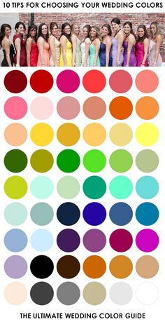Color. Simply put, it's the single most important unifying feature when it comes to the look of your wedding day! So then it probably doe...