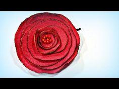 Tutorial. Rosas de tela. Fabric roses. - YouTube