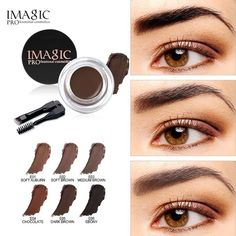 Imagic Hot New Professional Eyebrow Gel 6 Colors High Brow Tint Makeup Eyebrow Brown Eyebrow Gel With Brow Brush Tools Elegant Appearance Beauty Essentials Beauty & Health