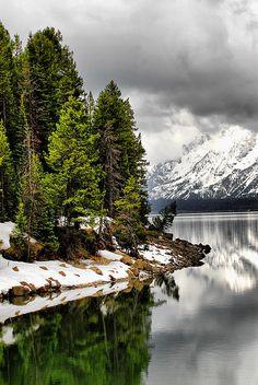 ... on the dam on Jackson Lake in Jackson Hole, Wyoming