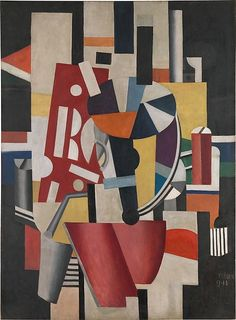 Fernand Léger (French, 1881–1955). Composition (The Typographer), 1918–19. Oil on canvas; 98 1/4 x 72 1/4 in. (249.6 x 183.5 cm). The Metropolitan Museum of Art, New York