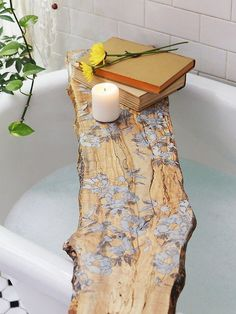 Flower pressed tub board